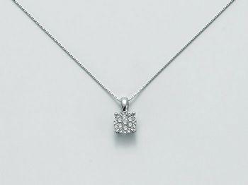 Collana Miluna in oro e diamanti Solitario Di Diamanti CLD3427