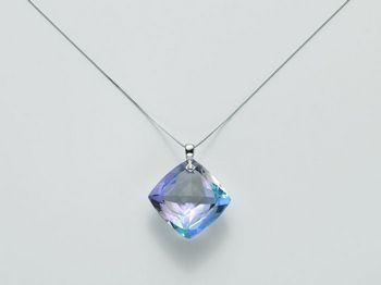 Collana Miluna in oro e diamanti Invisible Cut CLD3440B