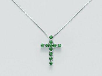 Collana Miluna in oro e diamanti Le Croci Gemme Preziose CLD3560