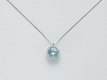 Collana Miluna in oro e diamanti Acquamarina CLD3602