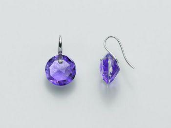 Orecchini Miluna in oro e diamanti Invisible Cut ERD1949B