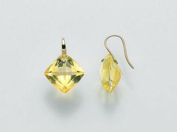 Orecchini Miluna in oro e diamanti Invisible Cut ERD1952G