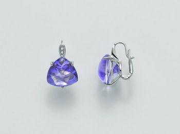Orecchini Miluna in oro e diamanti Invisible Cut ERD1956B