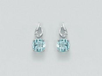 Orecchini Miluna in oro e diamanti Acquamarina ERD2020