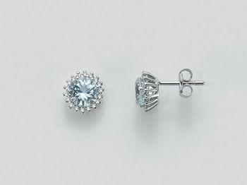 Orecchini Miluna in oro e diamanti Acquamarina ERD2055