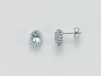 Orecchini Miluna in oro e diamanti Acquamarina ERD2056