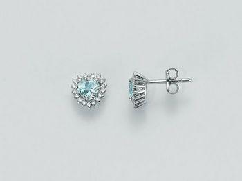Orecchini Miluna in oro e diamanti Acquamarina ERD2073