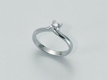 Anello Miluna in oro e diamanti I Solitari H Si LID1335-D10S