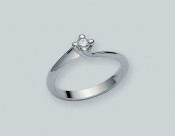 Anello Miluna in oro e diamanti I Solitari H Si LID1336-D12S