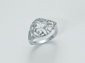 Anello Miluna in oro e diamanti Oro 375 Parure Diamanti LID2989X