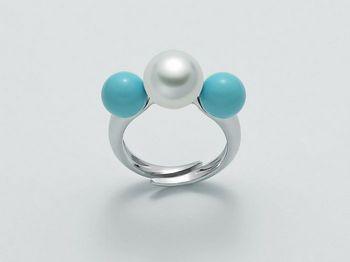 Anello con perle Miluna in argento Terra e Mare LID3026