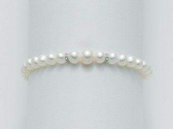 Bracciale Miluna in oro e diamanti con perle I Bracciali Perle PBR1400