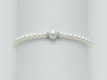 Bracciale Miluna in oro e diamanti con perle I Bracciali Perle PBR1402