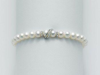 Bracciale Miluna in oro e diamanti con perle I Bracciali Perle PBR1527