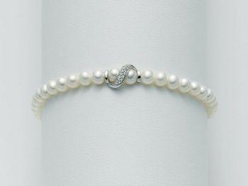 Bracciale Miluna in oro e diamanti con perle I Bracciali Perle PBR1528
