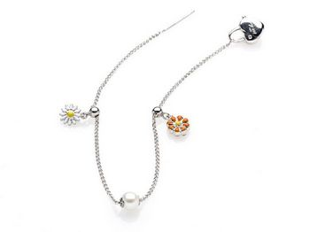 Bracciale Miluna in argento con perle Luna Kids PBR1702AG