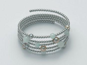 Bracciale Miluna in argento con perle Vortice PBR1719AG