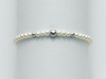 Bracciale Miluna in oro con perle Oro 375 I Bracciali Perle PBR1728X