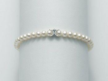 Bracciale Miluna in oro e diamanti con perle I Bracciali Perle PBR1878