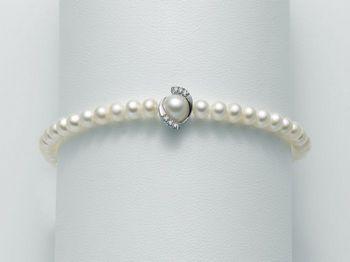 Bracciale Miluna in oro e diamanti con perle Oro 375 I Bracciali Perle PBR1883X
