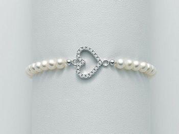 Bracciale Miluna in argento con perle Brio PBR1985