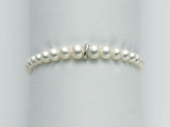 Bracciale Miluna in oro e diamanti con perle I Bracciali Perle PBR1990