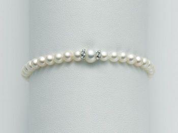 Bracciale Miluna in oro e diamanti con perle I Bracciali Perle PBR1991