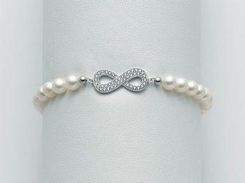 Bracciale Miluna in argento con perle Brio PBR2001