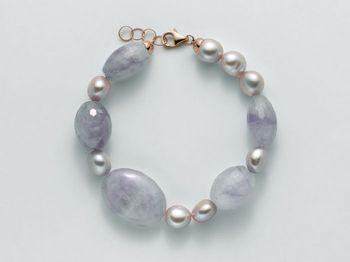 Bracciale Miluna in argento con perle I Segreti Della Terra PBR2093
