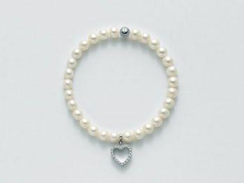 Bracciale Miluna in argento con perle Comunioni e Cresime PBR2127
