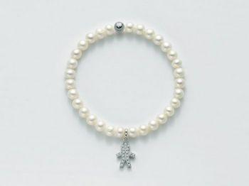 Bracciale Miluna in argento con perle Comunioni e Cresime PBR2129