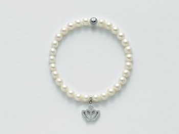 Bracciale Miluna in argento con perle Comunioni e Cresime PBR2133