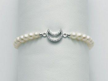Bracciale Miluna in argento con perle Brio PBR2182