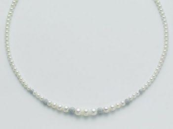 Collana Miluna in oro con perle Marco Polo PCL2047B