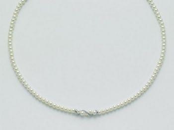 Collana Miluna in oro e diamanti con perle Le Collane Perle PCL2090