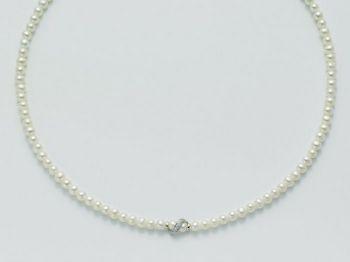 Collana Miluna in oro e diamanti con perle Le Collane Perle PCL3724