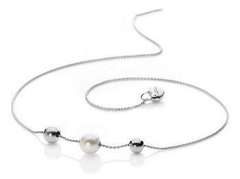 Collana Miluna in argento con perle Love PCL4112AG