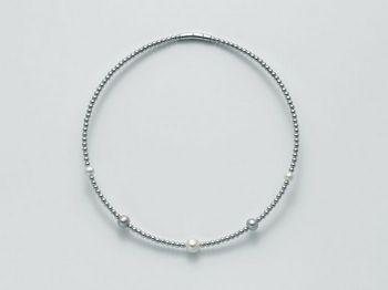 Collana Miluna in argento con perle Vortice PCL4219AG