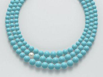 Collana Miluna in oro con perle azzurre Terra e Mare PCL4674