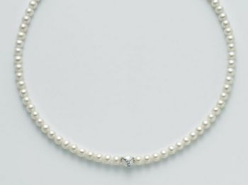 Collana Miluna in oro e diamanti con perle Le Collane Perle PCL4711