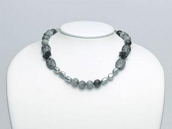 Collana Miluna in argento con perle I Segreti Della Terra PCL4740