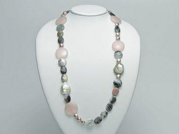 Collana Miluna in argento con perle I Segreti Della Terra PCL4743