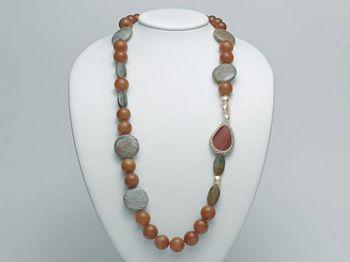 Collana Miluna in argento con perle I Segreti Della Terra PCL4745