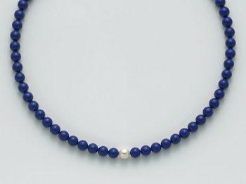 Collana Miluna in oro con perle blu Terra e Mare PCL4780