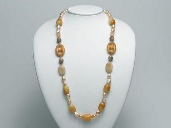 Collana Miluna in argento con perle I Segreti Della Terra PCL4825