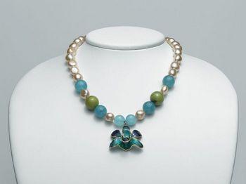 Collana Miluna in argento con perle I Segreti Della Terra PCL4834