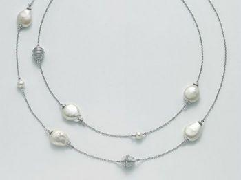 Collana Miluna in argento con perle Perle Di Seta PCL4874