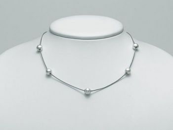 Collana Miluna in argento con perle Trendy PCL4897AG