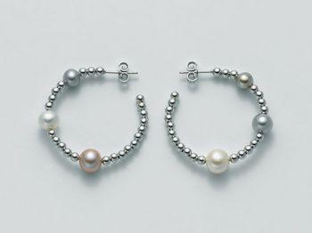Orecchini Miluna in argento con perle Vortice PER1840AG