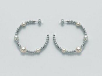 Orecchini Miluna in argento con perle Vortice PER1842AG